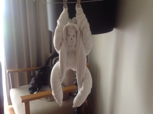 I photograph hideous towel art. Check.